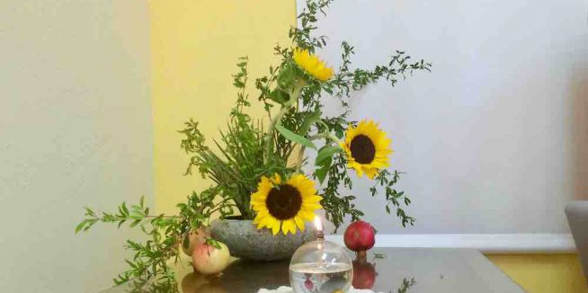 Kalapa Ikebana Winter 2019 with  Donna West